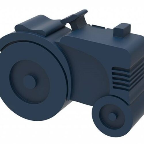 Blafre Lunchbox Tractor Donkerblauw